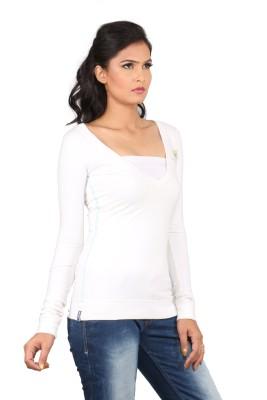 Blacksoul V-neck Solid Women's Pullover