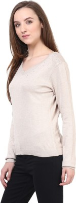 Rare V-neck Solid Women's Pullover