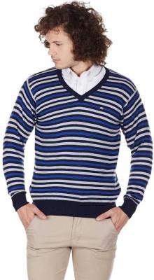 Monte Carlo V-neck Striped Men's Pullover