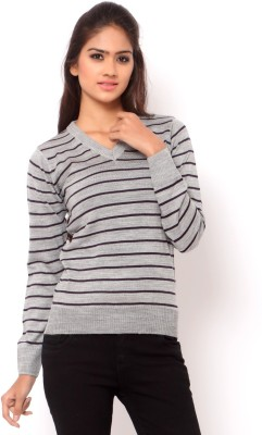 La Nina V-neck Striped Women's Pullover