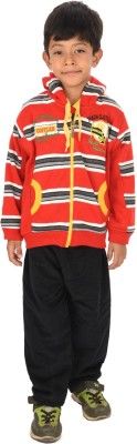 Shaun Round Neck Striped Boys Pullover