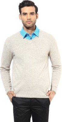 Turtle V-neck Solid Men's Pullover