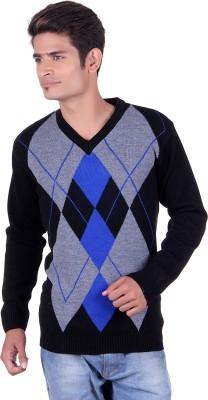 Blackvelly V-neck Woven Men's Pullover
