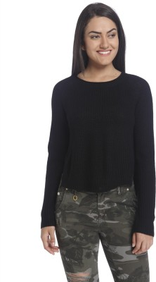 Only Round Neck Solid Women's Pullover at flipkart