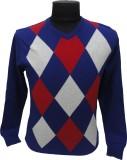 BK Black V-neck Striped Men's Pullover