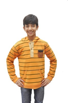 Just Chill Round Neck Striped Boy's Pullover