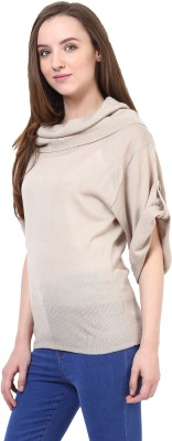 Rare Turtle Neck Solid Women's Pullover at flipkart