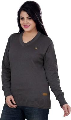 Stephen Armor V-neck Solid Women's Pullover