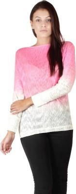 Dora Polis Round Neck Woven Women's Pullover