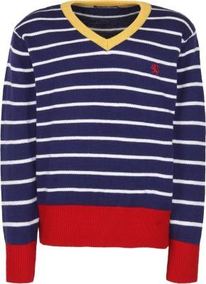 Wingsfield V-neck Striped Boy's Pullover