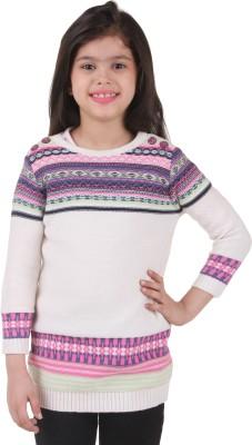 Kids Village 3/4 Sleeve Geometric Print Baby Girl,s Sweatshirt