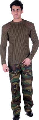 D.V. Saharan & Sons Round Neck Solid Men's Pullover