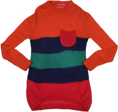 Wingsfield Round Neck Striped Girl's Pullover