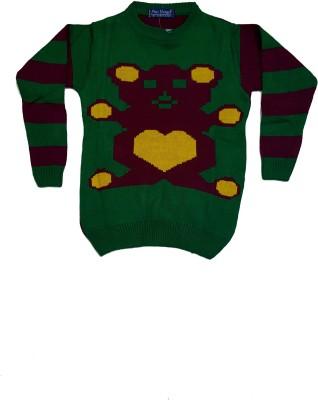 Groverz Round Neck Self Design Boy's Pullover