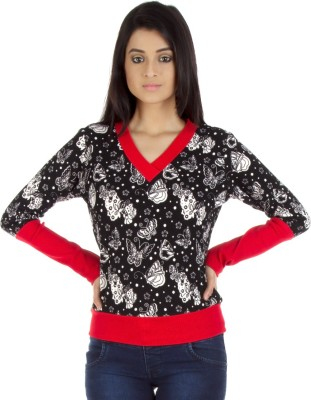 Vea Kupia V-neck Printed Women's Pullover