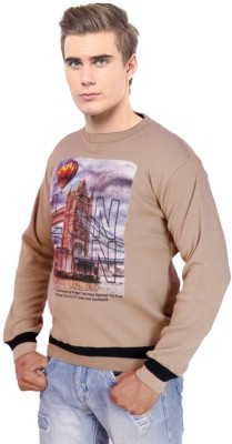 Krg Fashion V-neck Printed Men's Pullover