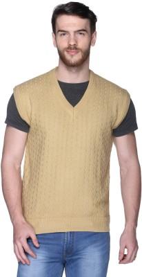 Trufit V-neck Self Design Men's Pullover
