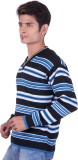 Black Velly V-neck Woven Men's Pullover