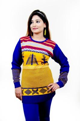 Laadli Ji Round Neck Woven Women,s Pullover