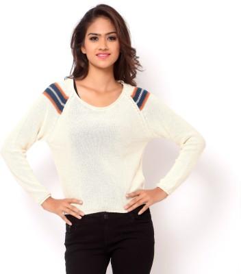 La Nina Round Neck Woven Women's Pullover