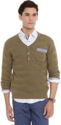 American Swan V-neck Solid Men's Pullover