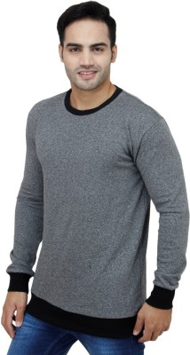 inkdice Round Neck Solid Men's Pullover