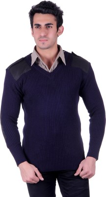 D.V. Saharan & Sons V-neck Solid Men's Pullover