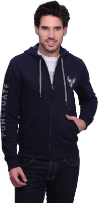 Punctuate V-neck Solid Men's Pullover