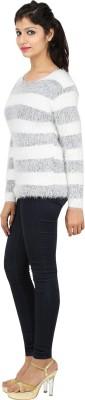 SHOPPERCHOICE Round Neck Striped Women's Pullover