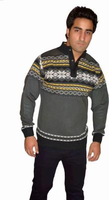 Fasholic Round Neck Woven Men's Pullover