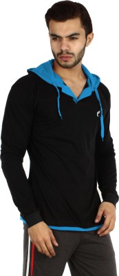 V3squared Turtle Neck Solid Mens Pullover