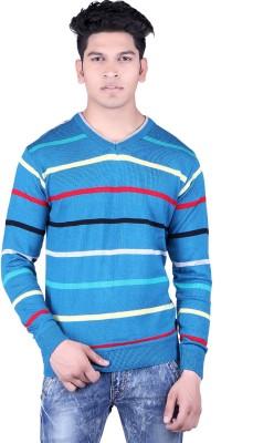 Neasa V-neck Solid, Striped Men's Pullover