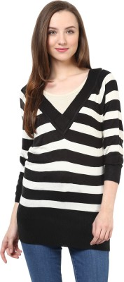 Rare V-neck Striped Women's Pullover