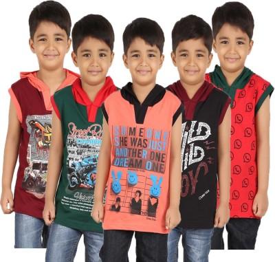 Meril V-neck Graphic Print Boy's Pullover