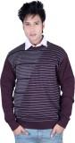 Deutz V-neck Solid, Striped Men's Pullov...
