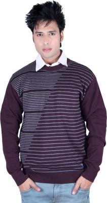 Deutz V-neck Solid, Striped Men,s Pullover