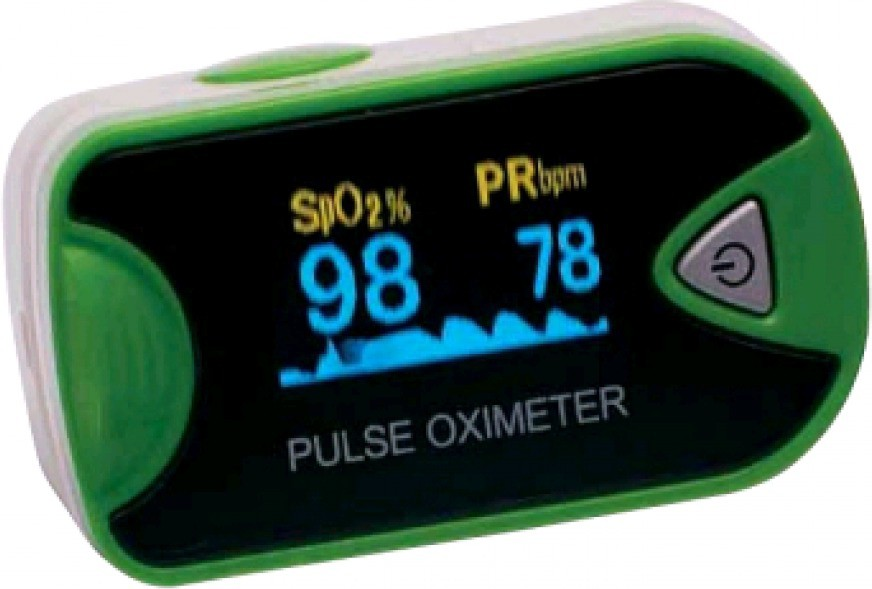 Romsons Oxee Check Pulse Oximeter(White-Green)
