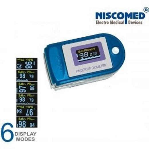 Niscomed CMS-50D Pulse Oximeter(White, Blue)