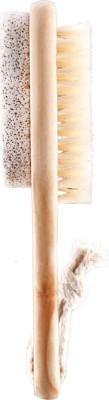 PANACHE Wooden Pumice Stone & Brush Combo