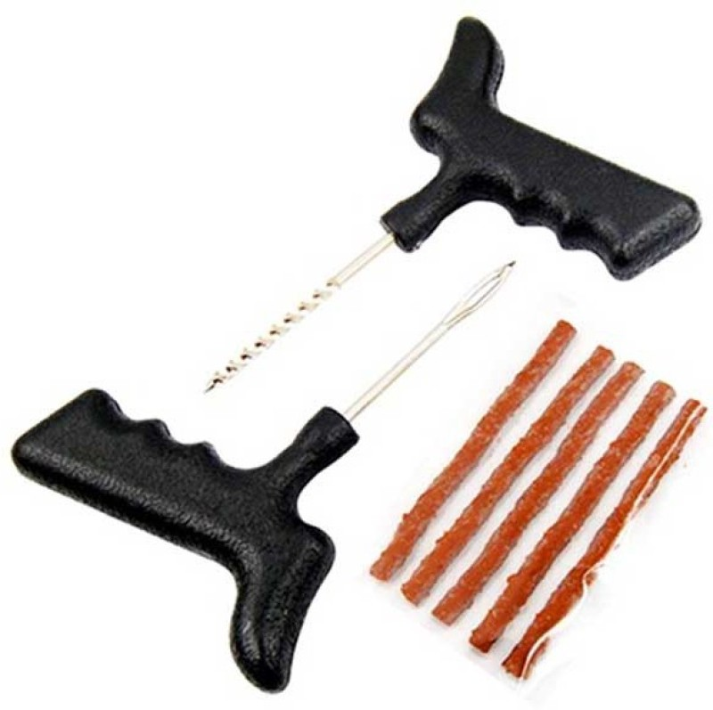 CarSizzler Classic Chrome Tubeless Tyre Puncture Repair Kit