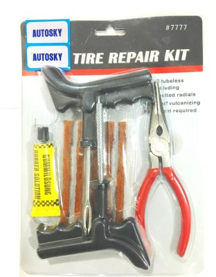 Autosky PKR-771 With Pasting Solution and Plier Tubeless Tyre Puncture Repair Kit
