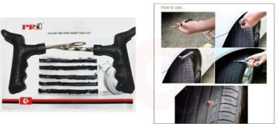 AutoStark Car Bike Tubeless Tyre Puncture Repair Kit with Bonding Adhesive Tubeless Tyre Puncture Repair Kit