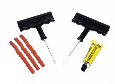 Auto Hub 6 Pieces With 3 Strips Tubeless Tyre Puncture Repair Kit