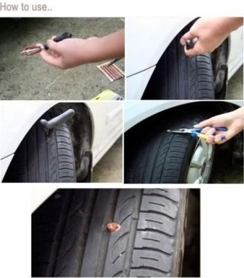 Bike World T-6098 Tubeless Tyre Puncture Repair Kit