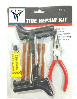 Kozdiko Premium Quality Cars,Bikes with Pasting Solution and Plier Tubeless Tyre Puncture Repair Kit