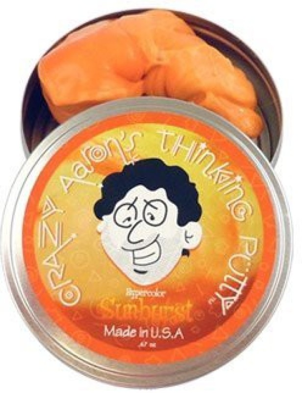 Crazy Aaron's Putty World SU003 Orange Putty Toy