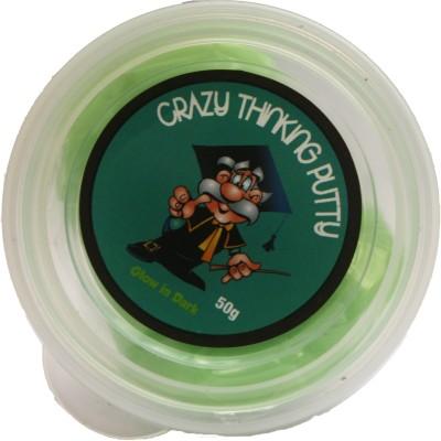 Crazy Thinking Glow in the Dark Green Putty Toy