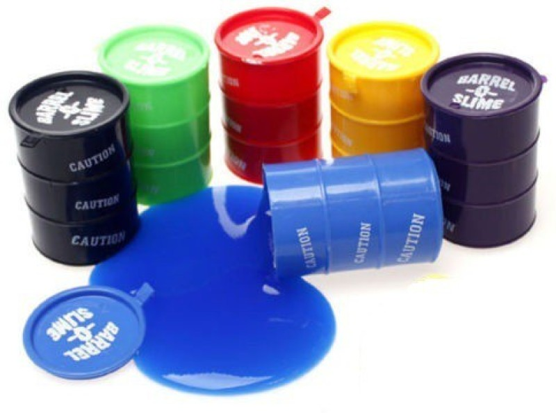 Switch Control Barrel O Slime 2 inch (Set of 6) Blue, Green, Red, Yellow, Purple, Black Putty Toy