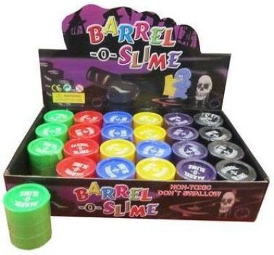 Gooddeals Barrel-o-slime Red, Green, Pink, Purple Putty Toy