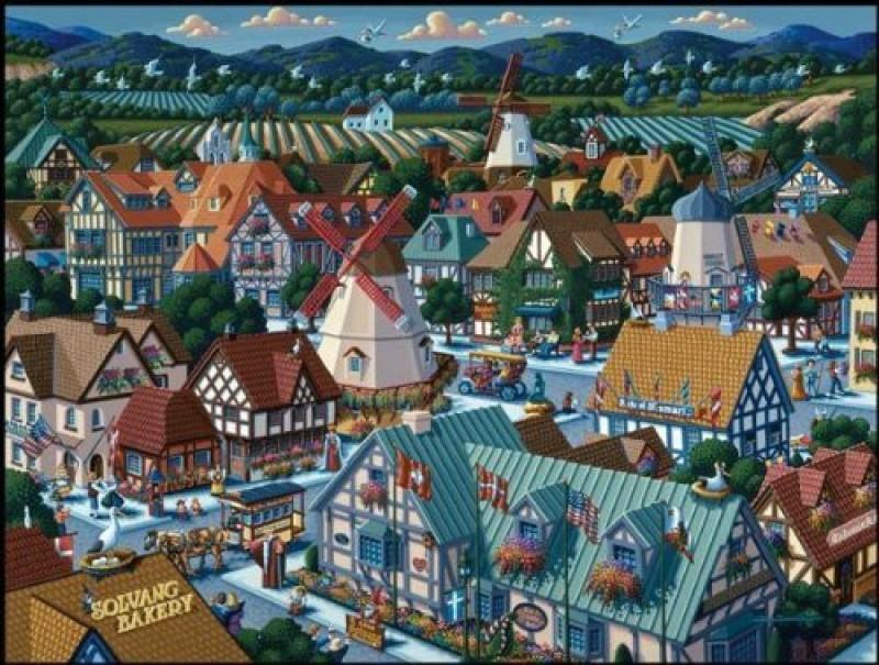 Dowdle Folk Art Puzzle - Solvang 500 Pc